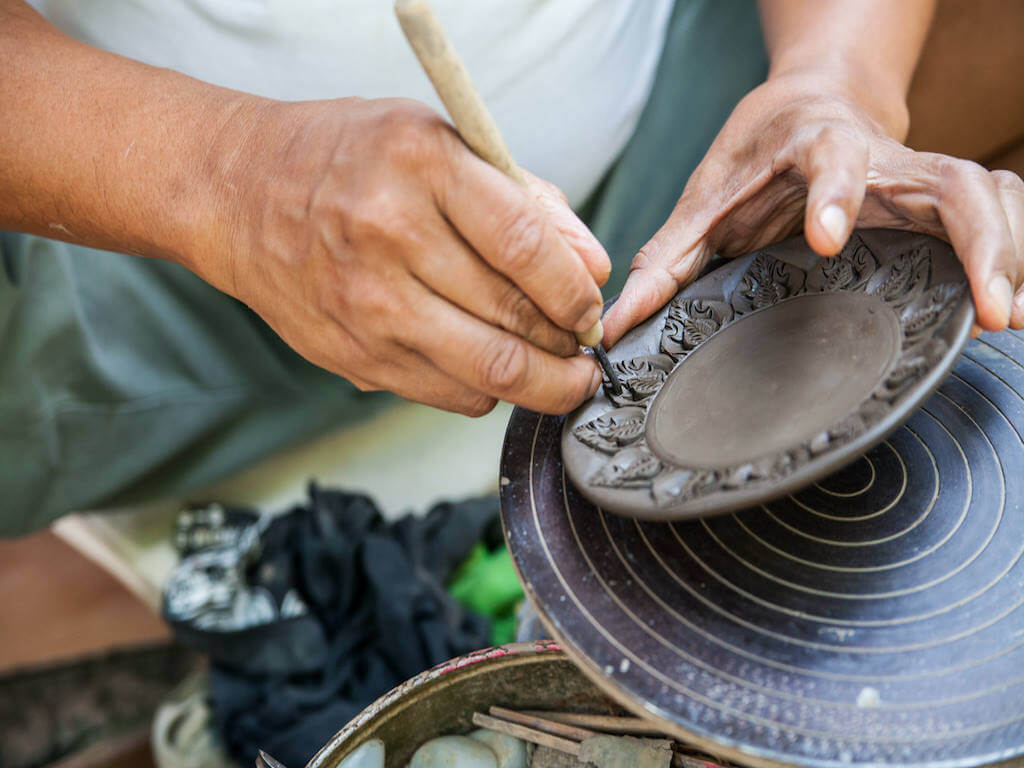 Hand carved pottery at Koh Kret - By Aumza2529_Shutterstock.com