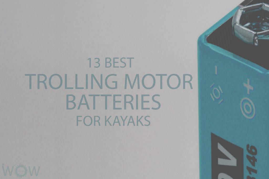 13 Best Trolling Motor Batteries For Kayaks